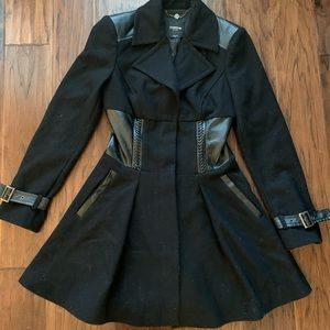 Bebe 60% Wool coat. Thick, warm, cute fit!!